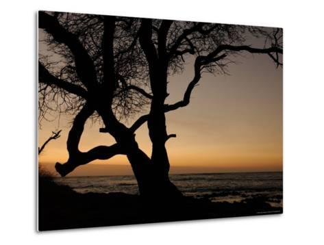 Big Island of Hawaii - Sunset from Beach-Keith Levit-Metal Print
