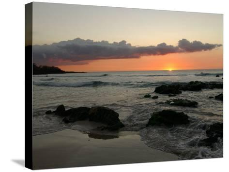 Big Island of Hawaii - Sunset from Beach-Keith Levit-Stretched Canvas Print