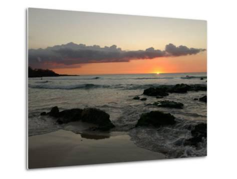 Big Island of Hawaii - Sunset from Beach-Keith Levit-Metal Print