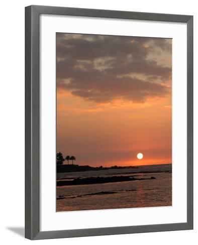 Big Island of Hawaii - Sunset from Beach-Keith Levit-Framed Art Print