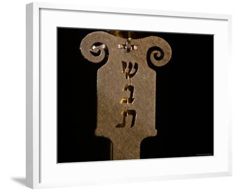 Jewish Symbols-Keith Levit-Framed Art Print