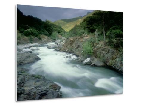 Kaweah River, Sierra Nevada, USA-Olaf Broders-Metal Print