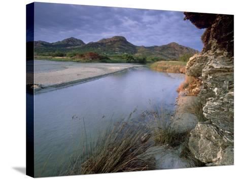 Estuary of Fango River, La Corse, France-Olaf Broders-Stretched Canvas Print