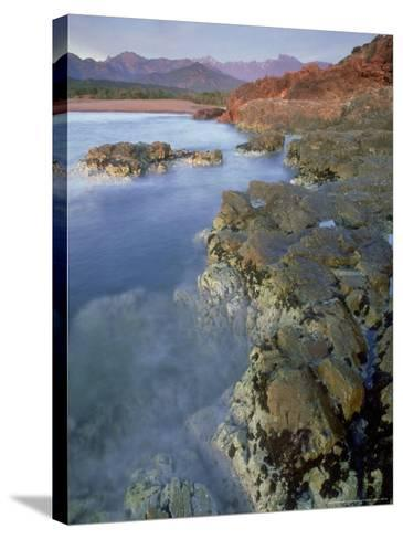 Corsican Coastline, Corsica, France-Olaf Broders-Stretched Canvas Print