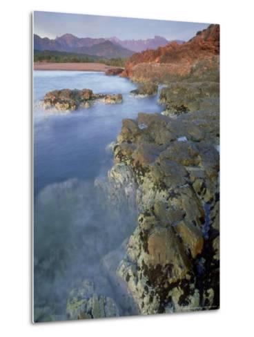Corsican Coastline, Corsica, France-Olaf Broders-Metal Print