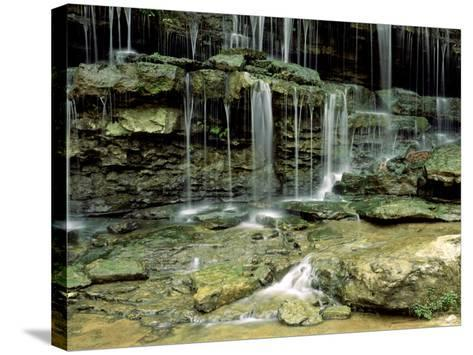 Falls on a Tributary of the Caney Falls River, TN-Willard Clay-Stretched Canvas Print