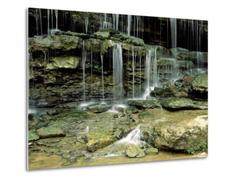 Falls on a Tributary of the Caney Falls River, TN-Willard Clay-Metal Print