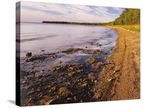 Morning Light on the Shore of Green Bay at Europe Bay County Park, Wisconsin, USA-Willard Clay-Stretched Canvas Print