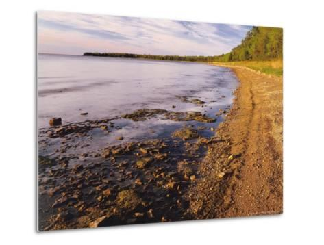 Morning Light on the Shore of Green Bay at Europe Bay County Park, Wisconsin, USA-Willard Clay-Metal Print