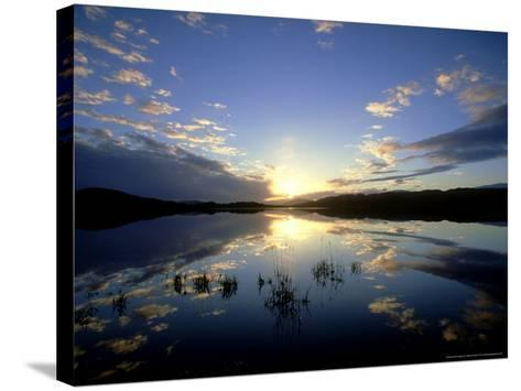 Loch Insh at Sunset, October Kincraig, Highlands, Scotland-Mark Hamblin-Stretched Canvas Print