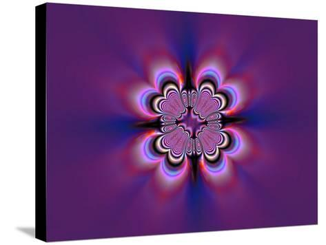 Abstract Pattern on Purple Background-Albert Klein-Stretched Canvas Print