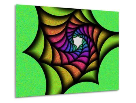 Multi-Colured Abstract Spiral Pattern-Albert Klein-Metal Print