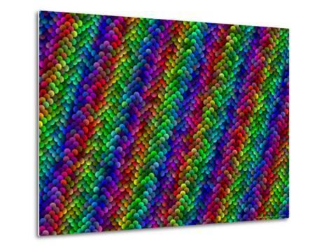 Multi-Coloured and Three-Dimentional Striped Fractal Design-Albert Klein-Metal Print
