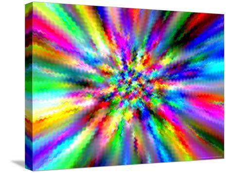 Abstract Multi-Coloured Background with Smeared Paint Effect-Albert Klein-Stretched Canvas Print