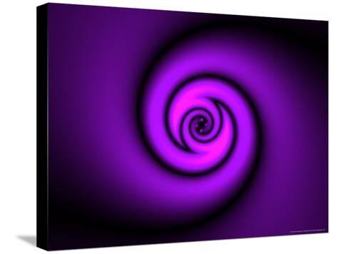 Abstract Swirl Design on Purple Background-Albert Klein-Stretched Canvas Print