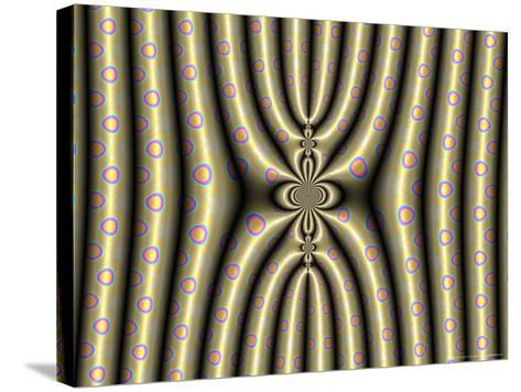 Abstract Design on Spotted Background-Albert Klein-Stretched Canvas Print