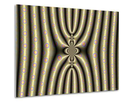 Abstract Design on Spotted Background-Albert Klein-Metal Print