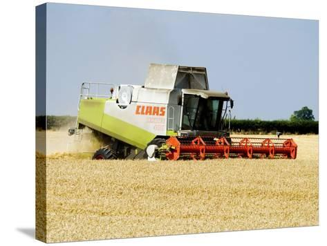 Combine Harvester, England-Martin Page-Stretched Canvas Print