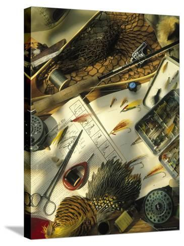 Still Life of Fly Fishing Accessories-Vito Aluia-Stretched Canvas Print