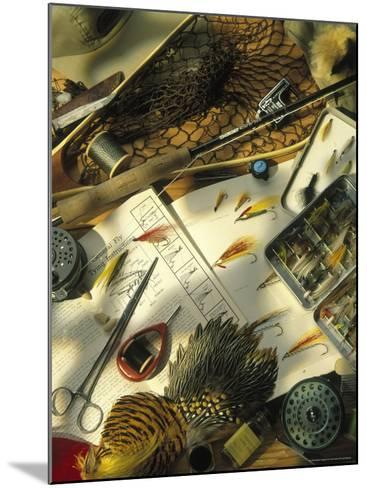 Still Life of Fly Fishing Accessories-Vito Aluia-Mounted Photographic Print