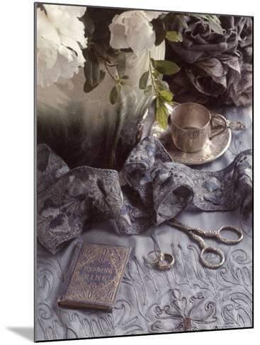 Still Life with Vase, Wedding Rings, Silver Tea Set-Wendi Schneider-Mounted Photographic Print