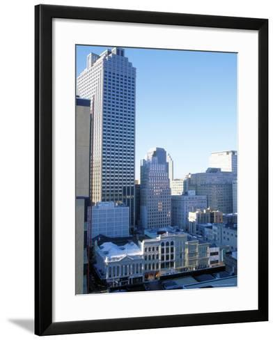 West Towards Canal and Central Business District-Barry Winiker-Framed Art Print