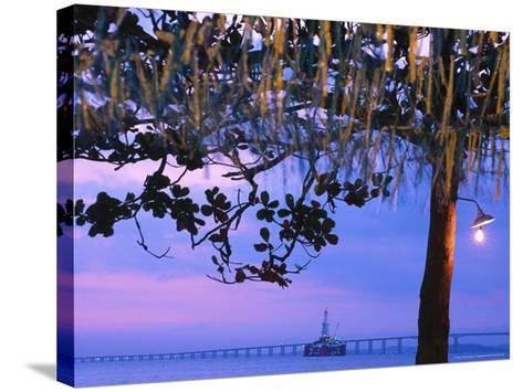 Oil Platform, Rio Niteroi Bridge, Guanabara Bay-Silvestre Machado-Stretched Canvas Print