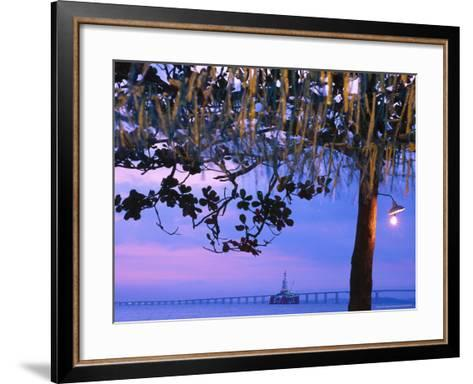 Oil Platform, Rio Niteroi Bridge, Guanabara Bay-Silvestre Machado-Framed Art Print