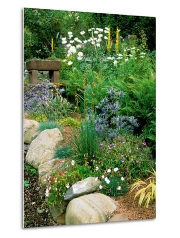 Garden Situated on a Hillside Overlooking Loch Ness, Scotland-Lynn Keddie-Metal Print