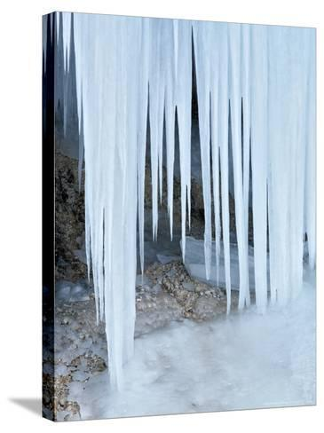 Ice Abstract, Slovenia-David Clapp-Stretched Canvas Print