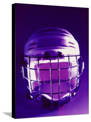 Close-up of a Hockey Helmet--Stretched Canvas Print