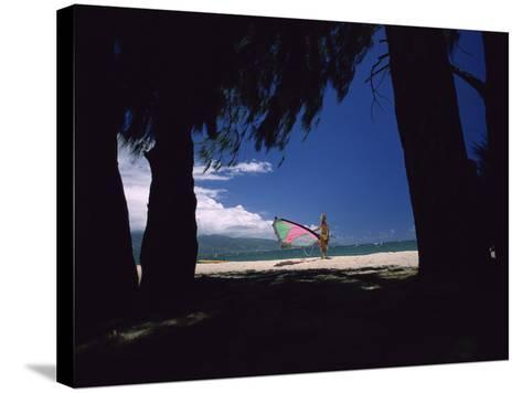 Ready to Windsurf--Stretched Canvas Print