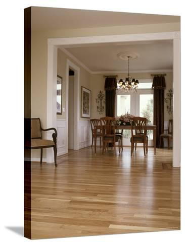 View into a Dining Room From the Foyer--Stretched Canvas Print