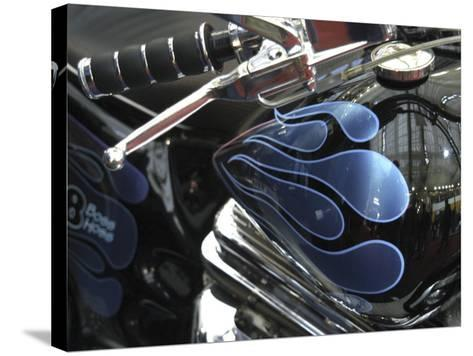 Close-up of Flame Design on a Motorcycle--Stretched Canvas Print