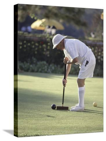 A Game of Croquet--Stretched Canvas Print
