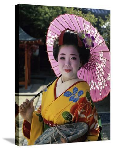 Maiko Girl, Kyoto, Japan--Stretched Canvas Print