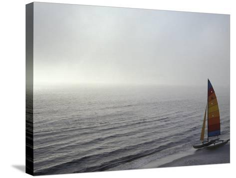 Sailboat in the Sea--Stretched Canvas Print