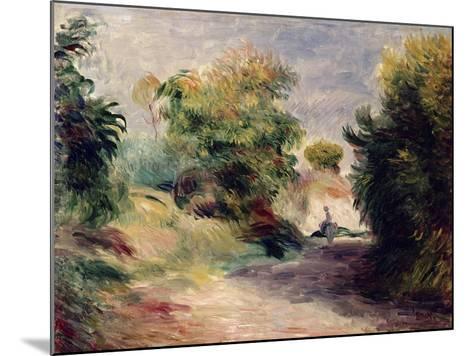 Landscape Near Cagnes, 1907-Pierre-Auguste Renoir-Mounted Giclee Print
