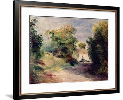 Landscape Near Cagnes, 1907-Pierre-Auguste Renoir-Framed Art Print