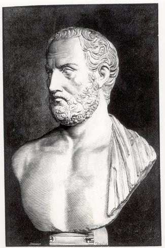 Bust of Thucydides-Felix Jules Lacaille-Stretched Canvas Print