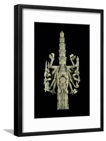 Figure of the Hindu Goddess Kali--Framed Art Print