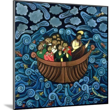 Jesus Calms the Storm, 1995-Laura James-Mounted Giclee Print