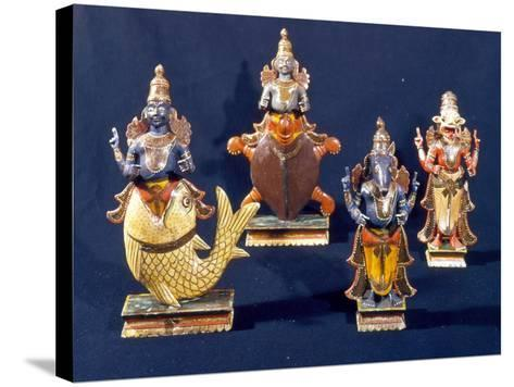 Four of the Incarnations of Vishnu--Stretched Canvas Print