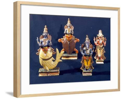 Four of the Incarnations of Vishnu--Framed Art Print