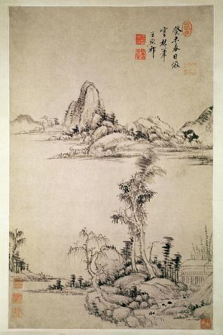Landscape-Wang Chi-Yuan-Stretched Canvas Print