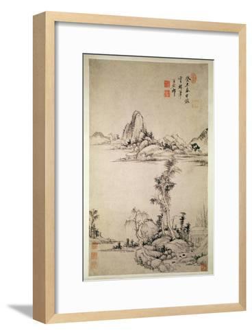 Landscape-Wang Chi-Yuan-Framed Art Print