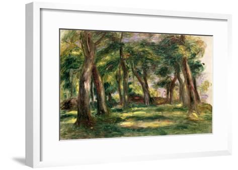 Trees-Pierre-Auguste Renoir-Framed Art Print