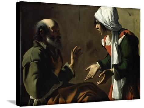 The Denial of St. Peter- Pensionante De Saraceni-Stretched Canvas Print
