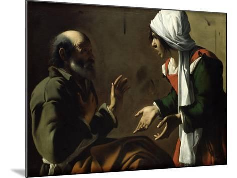 The Denial of St. Peter- Pensionante De Saraceni-Mounted Giclee Print