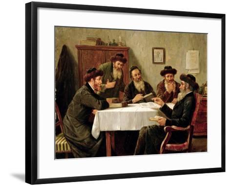 Jewish Scholars Debating-Josef Johann Suss-Framed Art Print